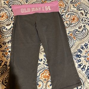 Old navy fold over waist active capris